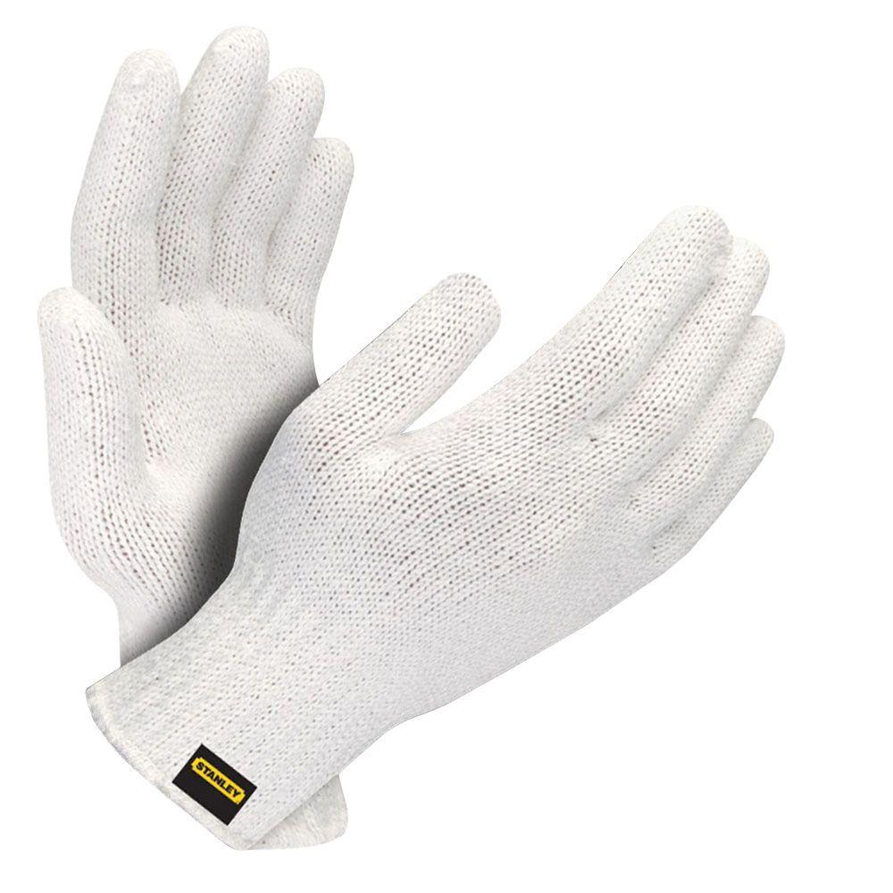 Stanley White Blended String Knit Glove (6-Pair)