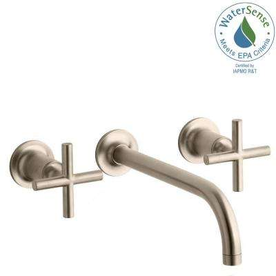Purist Wall Mount 2-Handle Water-Saving Bathroom Faucet Trim Kit in Vibrant Brushed Bronze (Valve Not Included)