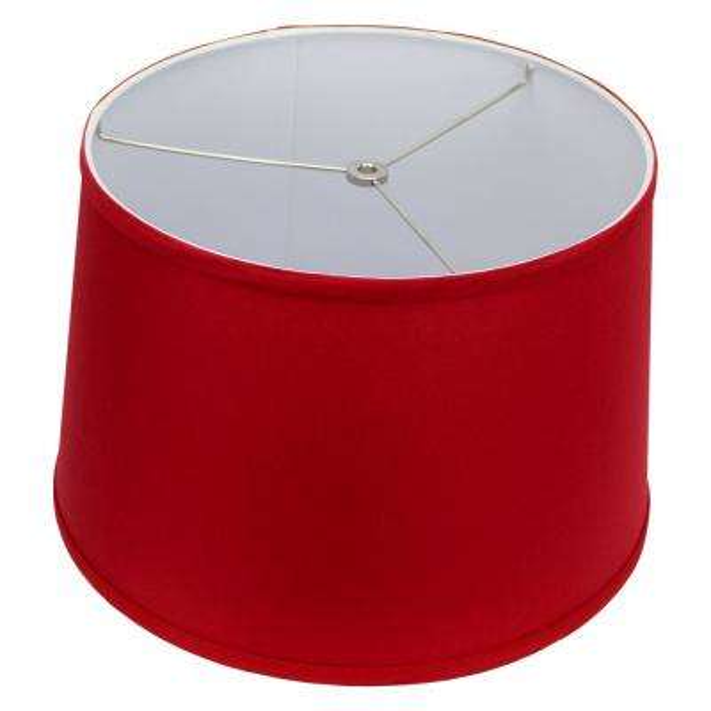 Fenchel Shades 13 in. Top Diameter x 15 in. Bottom Diameter x 10 in. Slant,  Empire Lamp Shade - Linen Rich Red