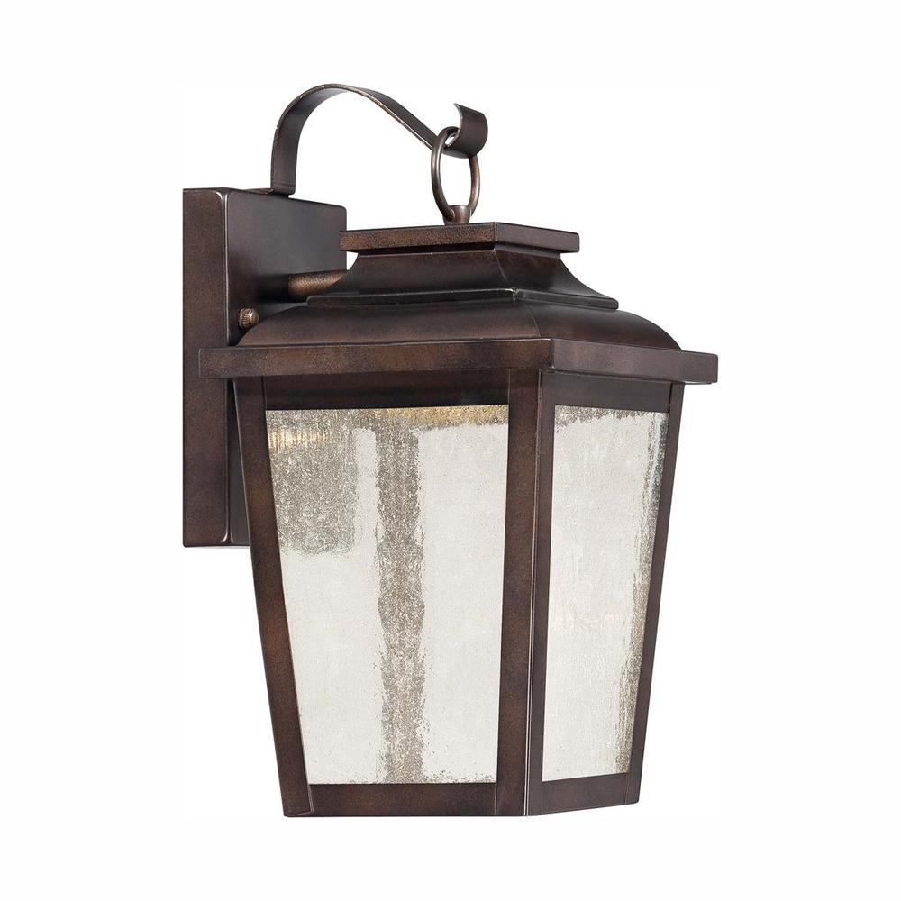 Irvington Manor Collection 1-Light Chelesa Bronze Outdoor Integrated LED Wall Lantern Sconce
