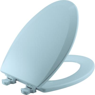 Lift-Off Elongated Closed Front Toilet Seat in Dresden Blue