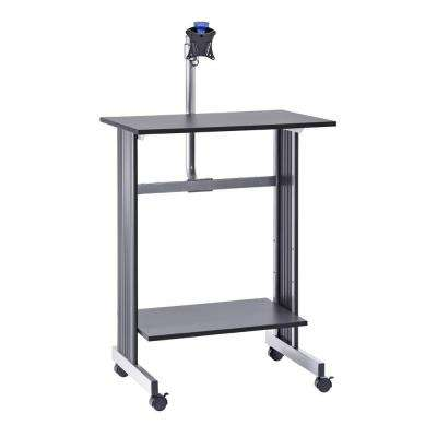 56 in. H x 29 in. W x 20 in. D Stand-Up Height Work Station with LCD Mount Computer Desk