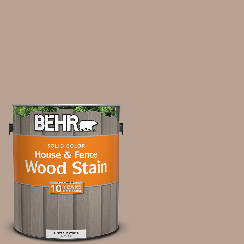 1 gal. #N190-4 Rugged Tan Solid House and Fence Wood Stain