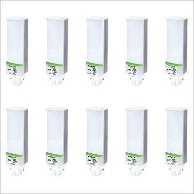 8W PL LED Lamp 18W/26W CFL Equivalent 3500K 920 Lumens Ballast Bypass 120-277V UL Listed (10-Pack)