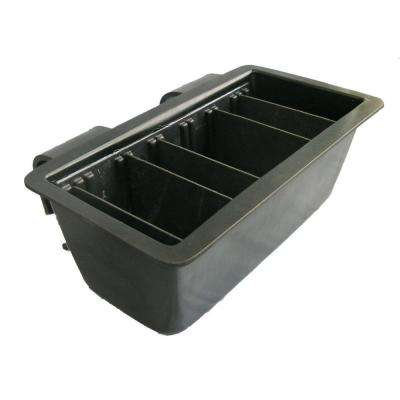 23 in. x 14 in. x 8 in. Bucket Mount Divided Tool Tray