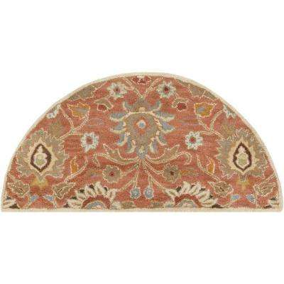 Cambrai Rust 2 ft. x 4 ft. Hearth Indoor Area Rug