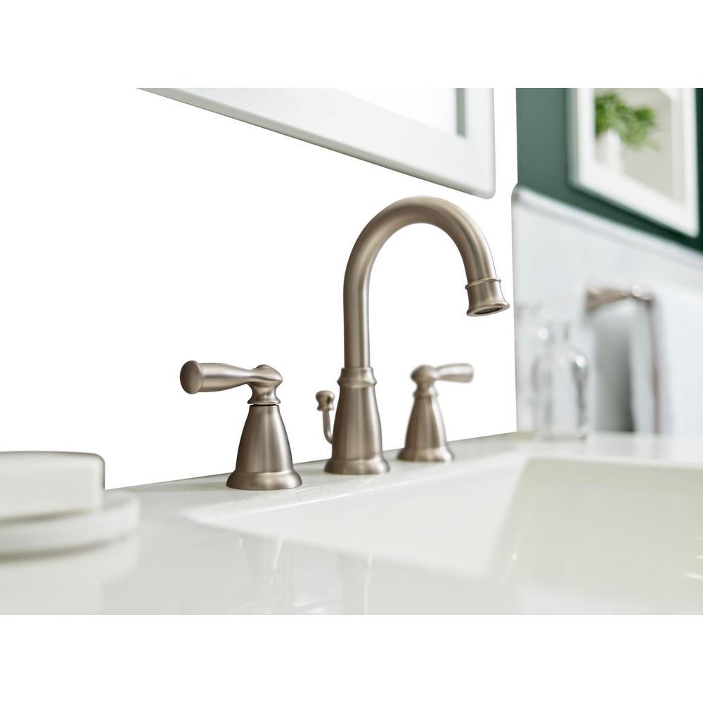 Banbury 8 in. Widespread 2-Handle High-Arc Bathroom Faucet in Spot Resist Brushed Nickel