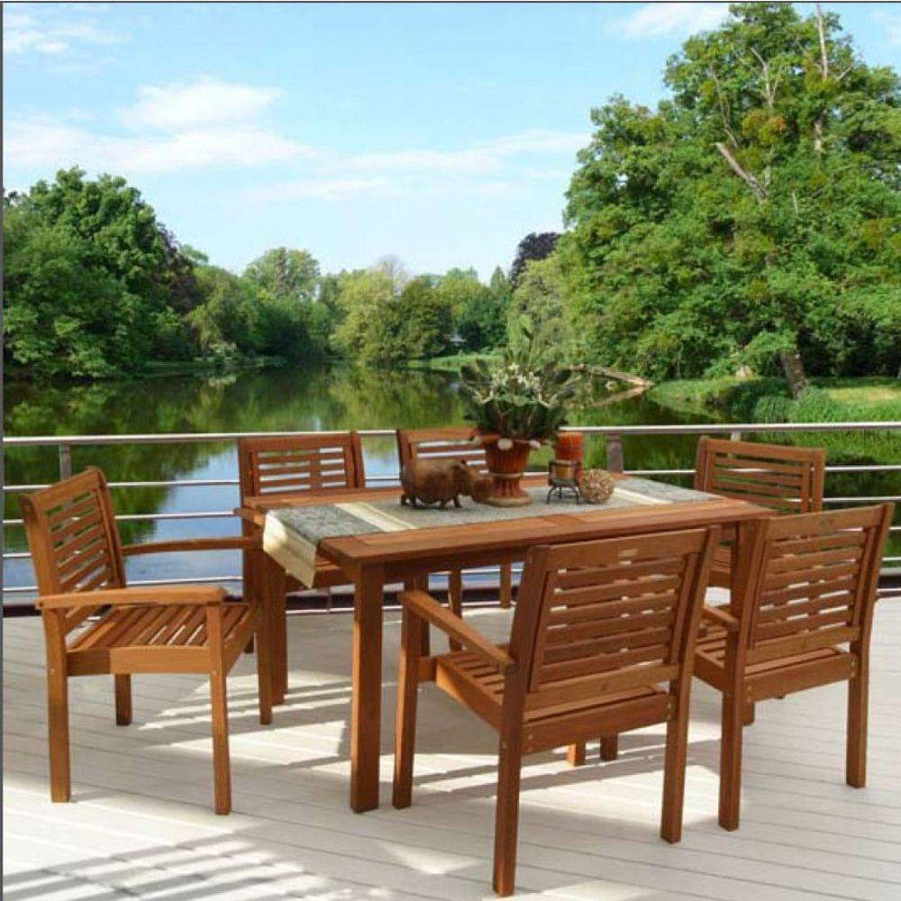 Milano 7-Piece Rectangular Patio Dining Set