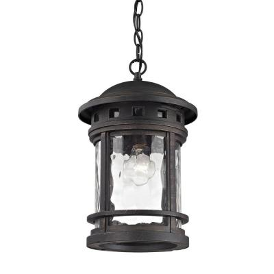 Costa Mesa 1-Light Weathered Charcoal Outdoor Pendant