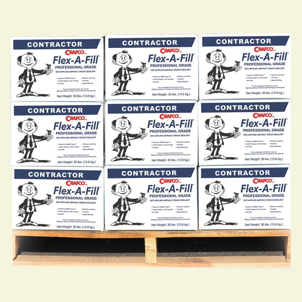 Flex-A-Fill Pallet 30 lbs. Cartons Hot-Applied Asphalt Crack Sealant (45-Boxes/Pallet)