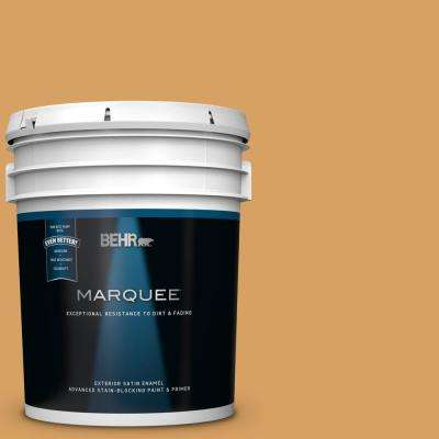 5 gal. #MQ4-10 Amber Brew Satin Enamel Exterior Paint and Primer in One