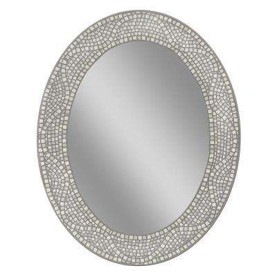 23 in. x 29 in. Opal Mosaic Oval Mirror