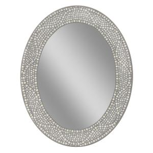 Deco Mirror 23 inch x 29 inch Opal Mosaic Oval Mirror by Deco Mirror
