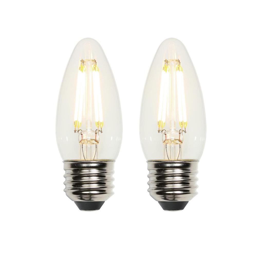 Westinghouse Alloy Ii 52 In Led Brushed Nickel Ceiling Fan 7205100 Incandescent Light Bulb Diagram Shows 11 Parts 40w Equivalent Clear B11 Dimmable Filament 2 Pack