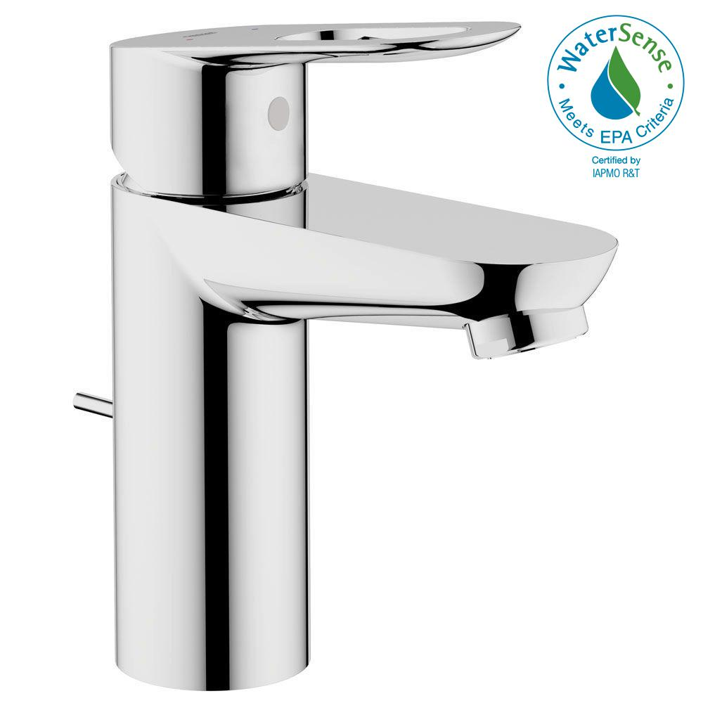 Grohe Bauloop Basin Mixer Single Hole Handle Ohm Bathroom Faucet In Starlight Chrome With Pop