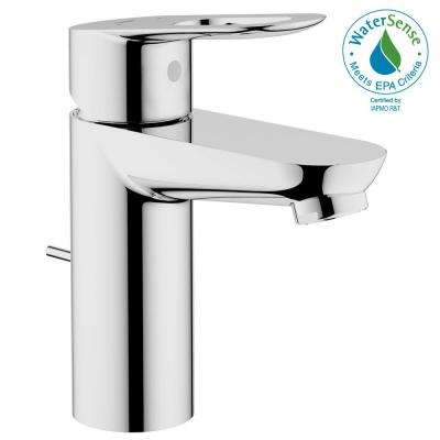 BauLoop Basin Mixer Single Hole Single Handle OHM Bathroom Faucet in StarLight Chrome with Pop-Up