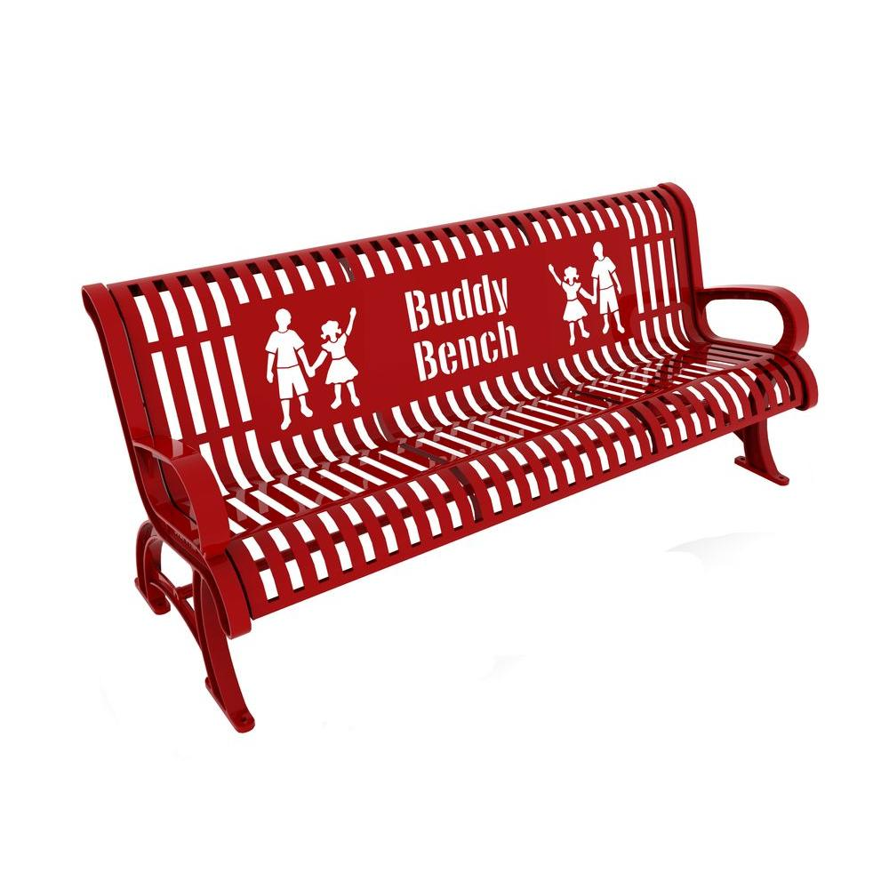 6 ft. Red Premium Buddy Bench