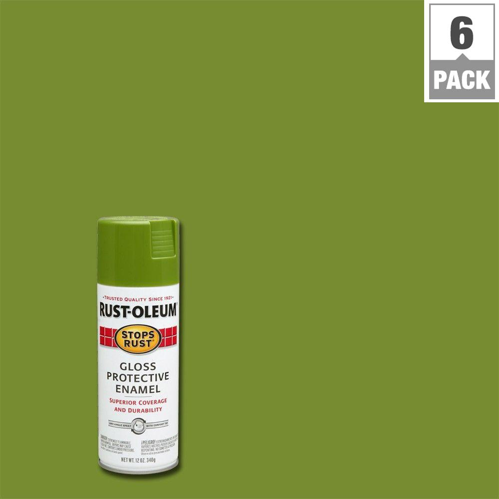 12 oz. Protective Enamel Gloss Fern Spray Paint (6-Pack)