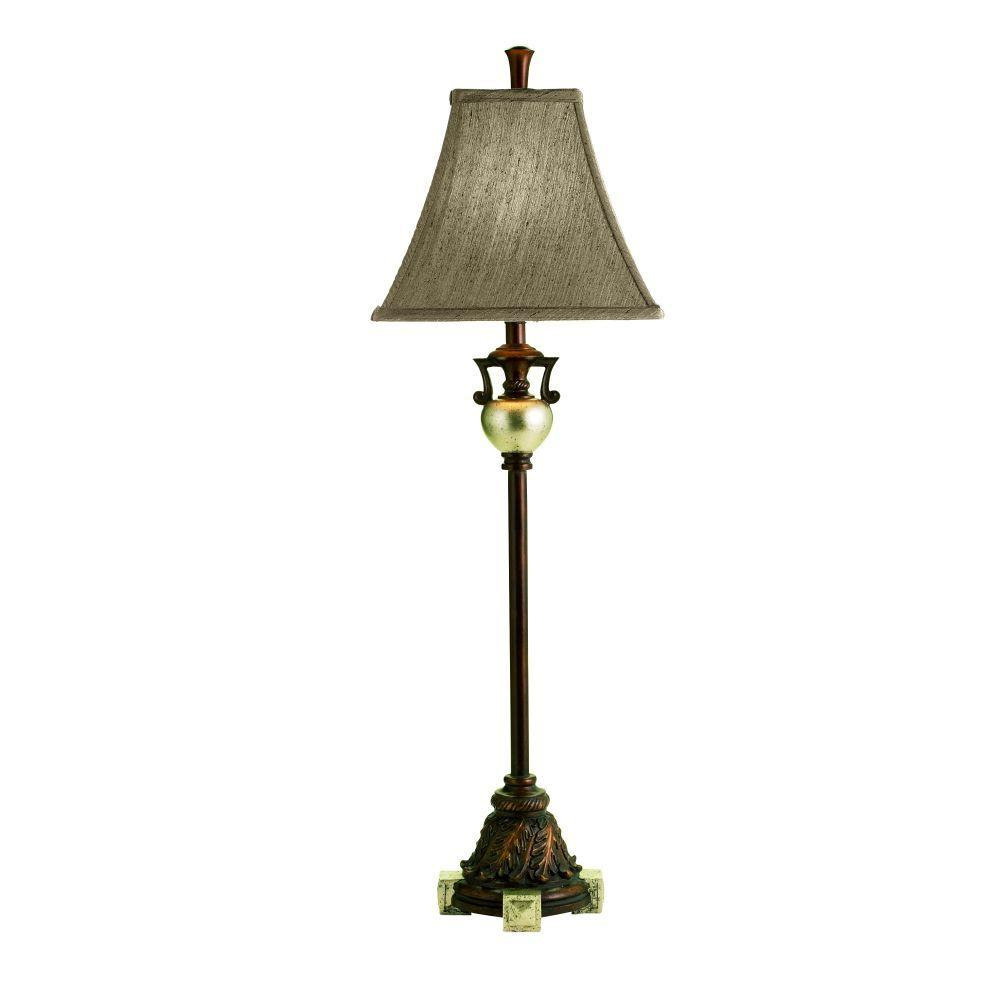 Eurofase Laurel Collection 28-1/4 in. Pewter Table Lamp