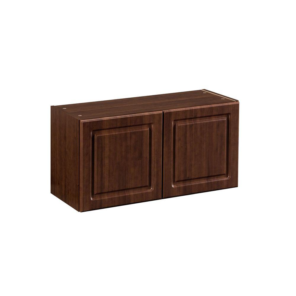 Heartland Cabinetry Heartland Ready to Assemble 30x15x12.5 in. Short Wall Cabinet with Double Doors in Cherry