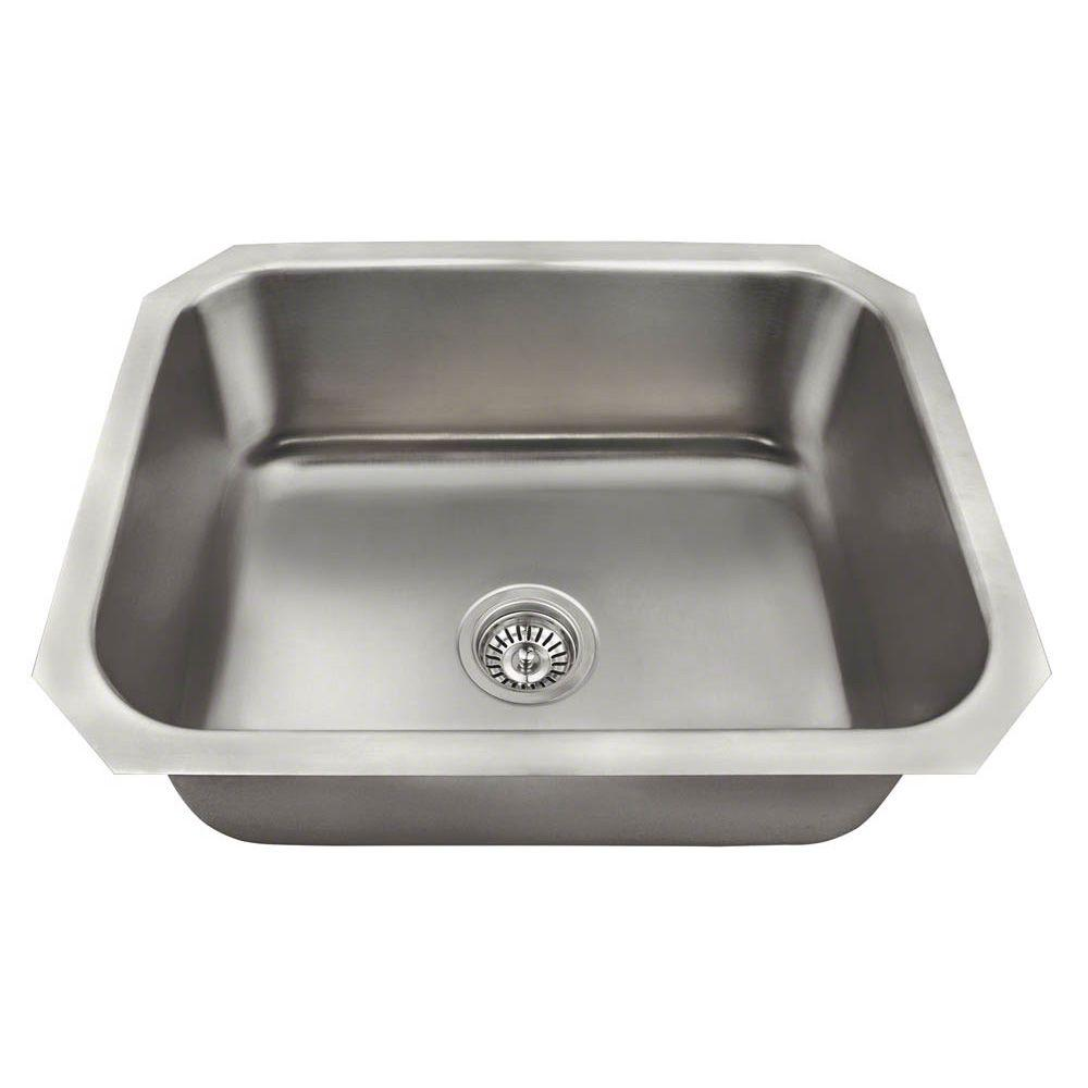 Beau All In One Undermount Stainless Steel 23 In. Single Bowl Kitchen Sink