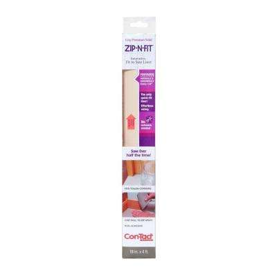 Zip-N-Fit 18 in. x 4 ft. Almond Perforated Solid Grip Non-Adhesive Drawer and Shelf Liner (6 rolls)