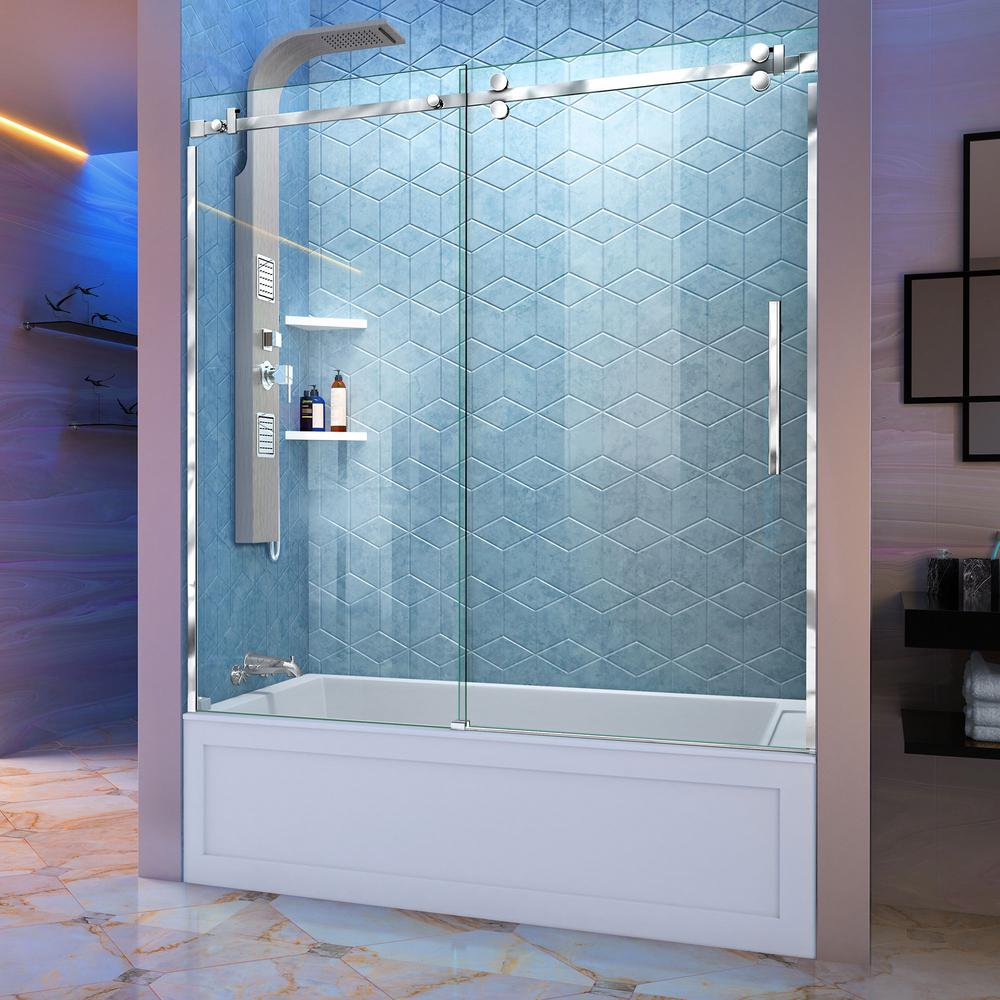 56 in. - 60 in. - Bathtub Doors - Bathtubs - The Home Depot