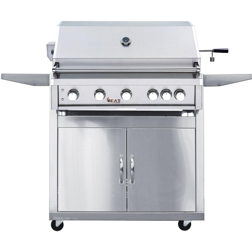 Cambridge 40 inch 5-Burner Propane Gas Grill in Stainless Steel w/ Cart