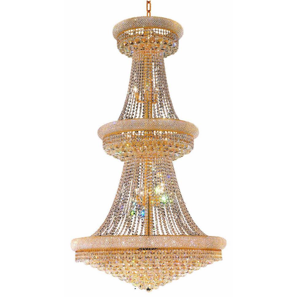 Empire 34-Light Gold Chandelier