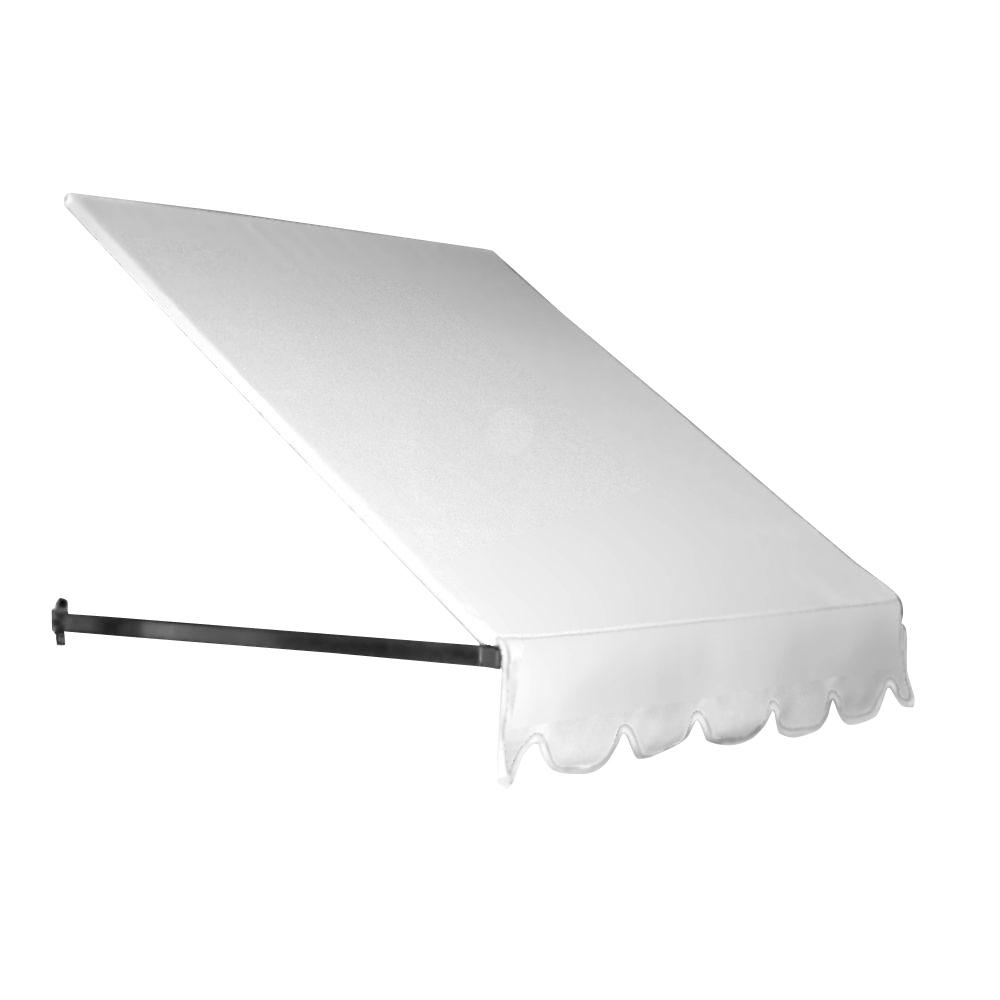AWNTECH 14 ft. Dallas Retro Window/Entry Awning (44 in. H x 24 in. D) in OffinWhite