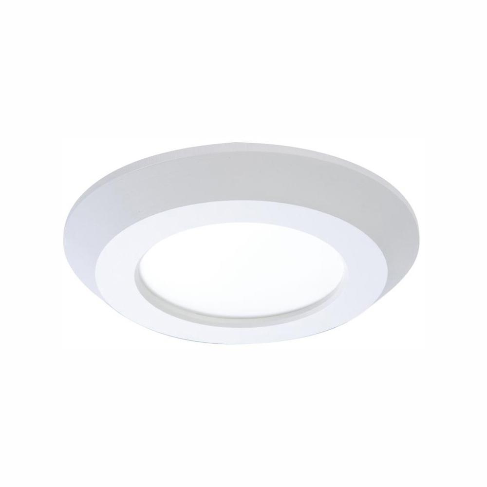 Halo 4 In White Integrated Led Recessed Trim Downlight 80 Cri 3000k Cct With Junction Box
