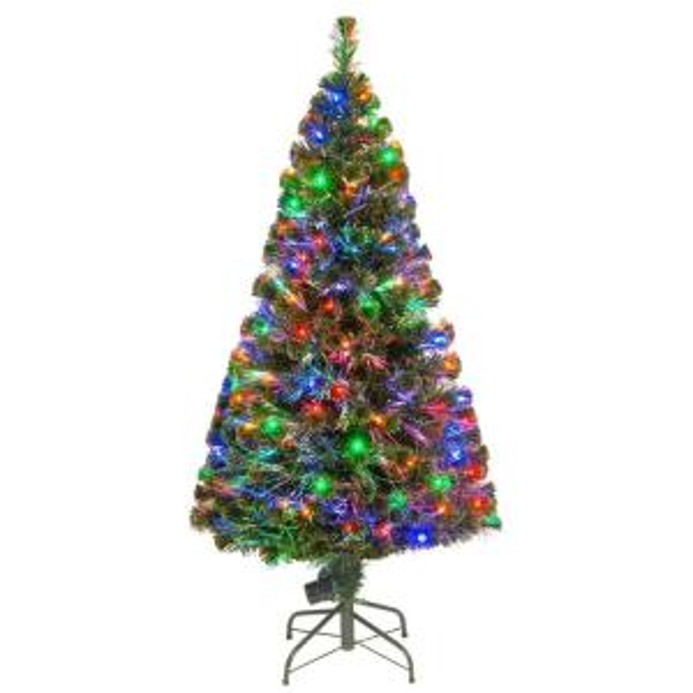 National Tree Company 5 Ft Fiber Optic Led Evergreen