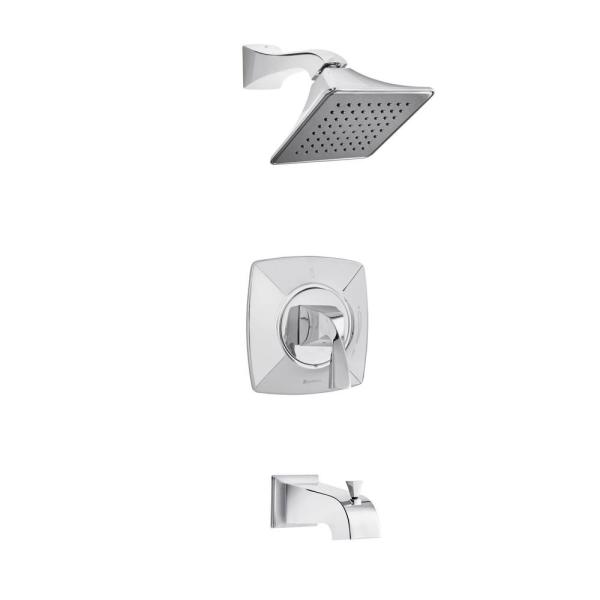 Leary Curve Single-Handle 1-Spray Tub and Shower Faucet in Chrome (Valve Included)
