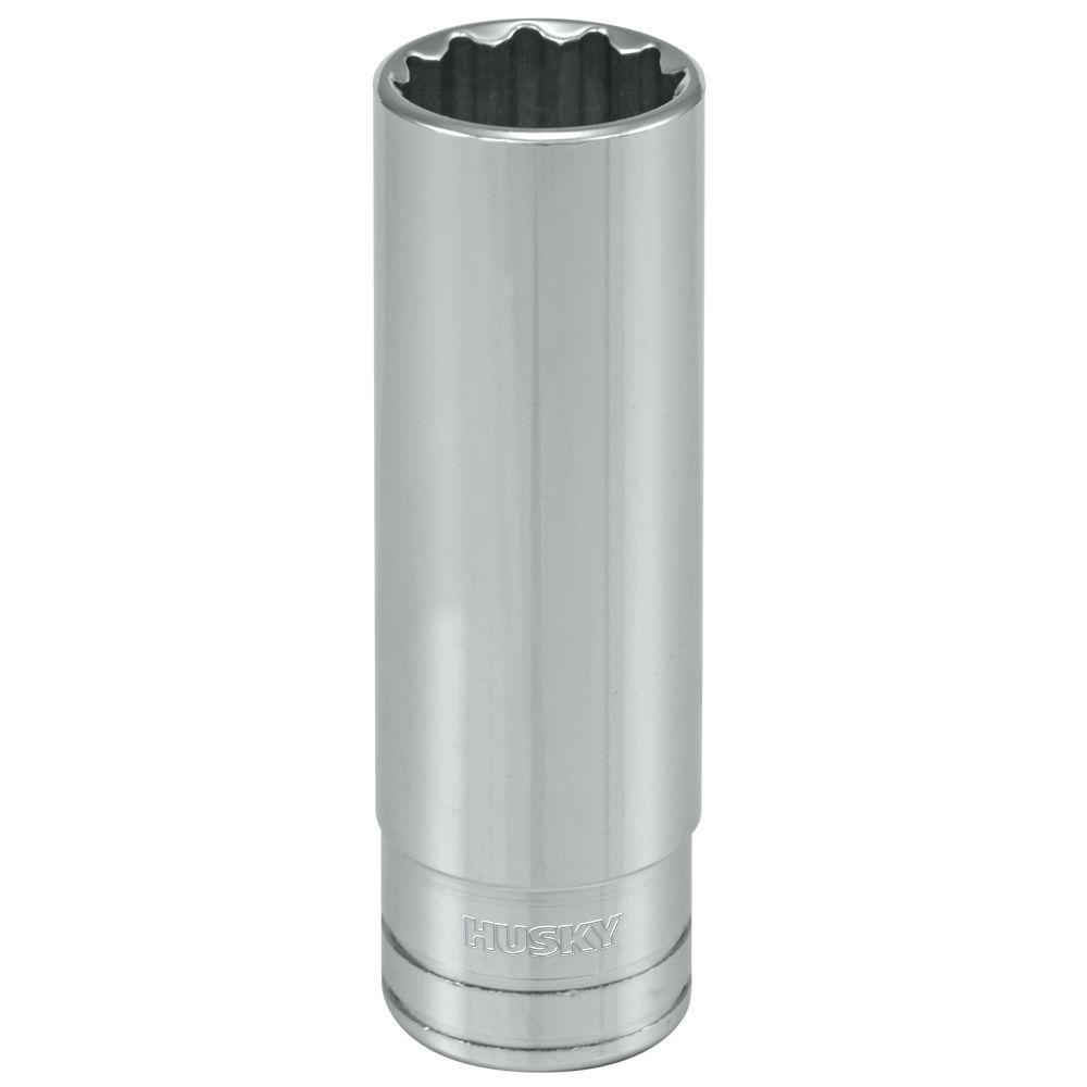 Husky 1/2 in. Drive 1/2 in. 12-Point SAE Deep Socket