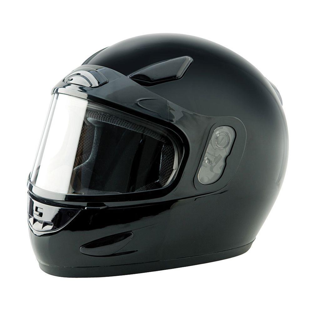 Large Adult Black Full Face Snow Helmet