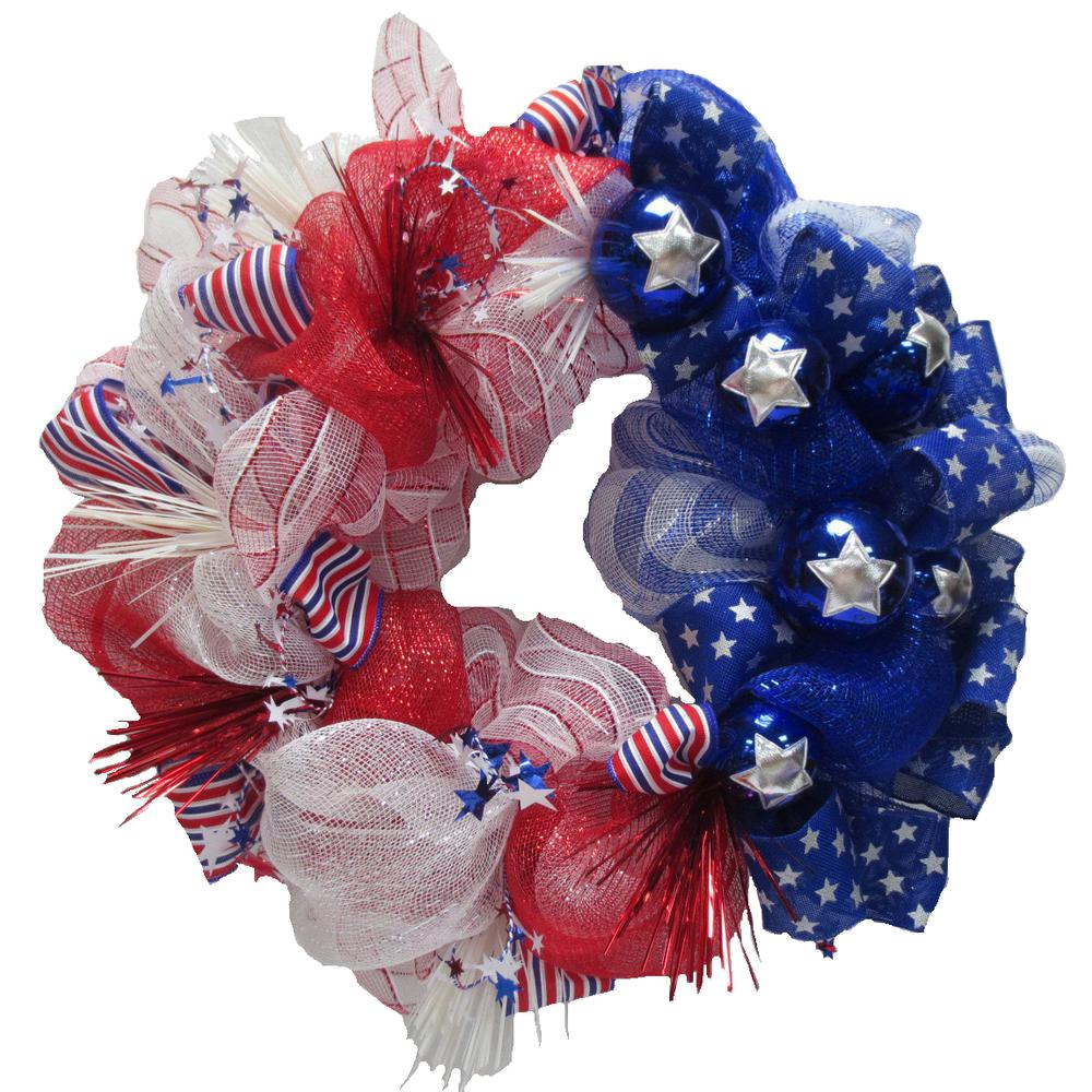 home accents holiday polymesh patriotic wreath asm hspr002 the