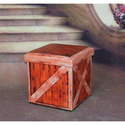 Antique Red Storage Ottoman