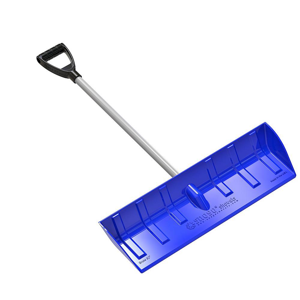 D-Handle Snow Pusher/Scoop in Blue