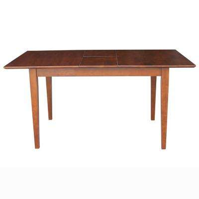 Espresso Solid Wood Extendable Dining Table