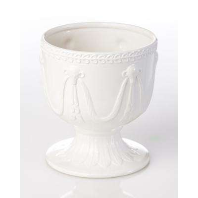 Ramshead Ivory Ceramic Decorative Cachepot Small