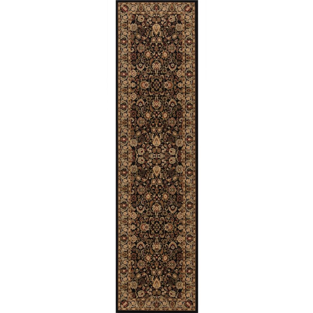 Persian Classics Mahal Black 2 ft. x 7 ft. 7 in. Runner
