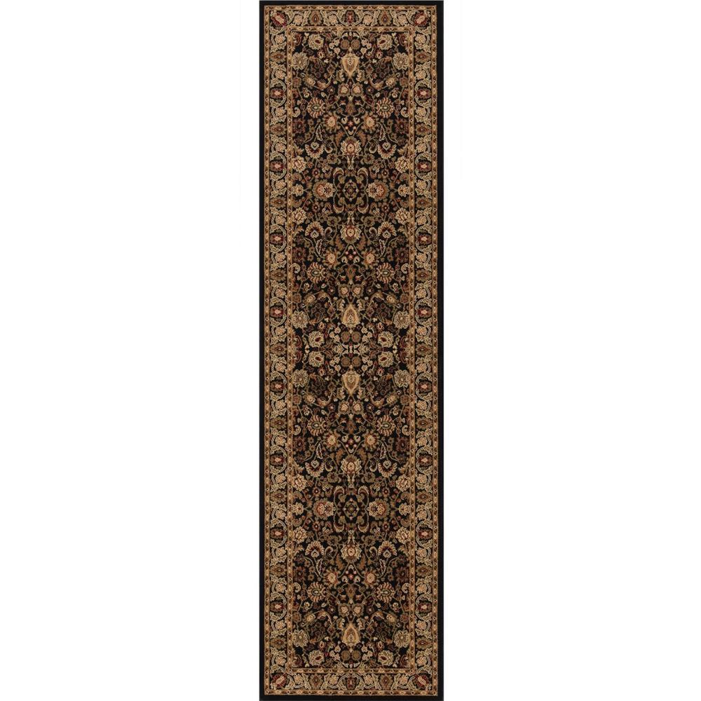 Persian Classics Mahal Black 2 ft. x 8 ft. Runner Rug