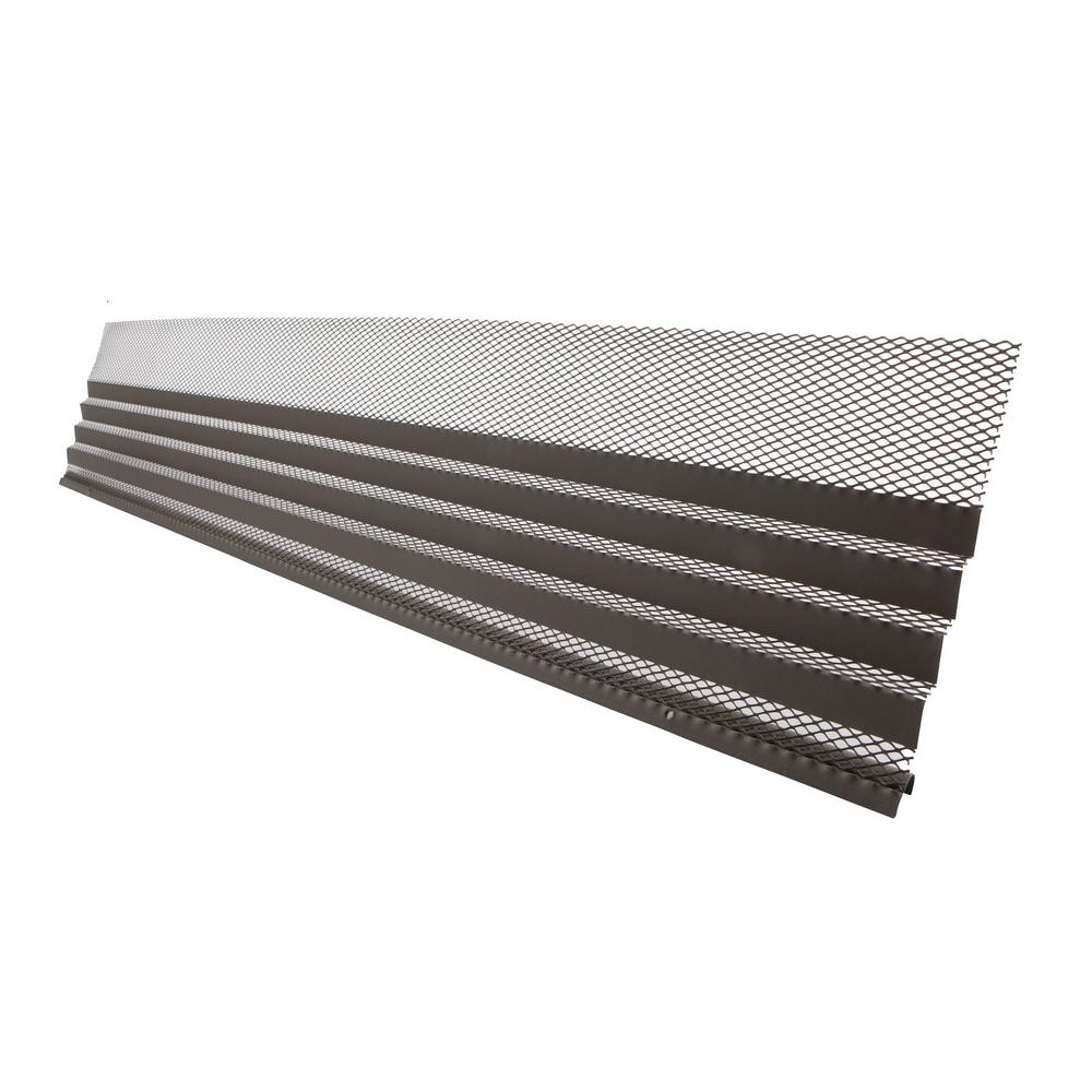Invisaflow Hoover Dam 3 Ft Gray Brown Gutter Cover 5