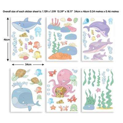 Multi-Color Baby Under The Sea Wall Stickers