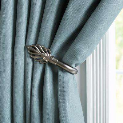 curtain holdbacks drapery one silver magnetic tiebacks dp clips pair btsky crystal buckle tie