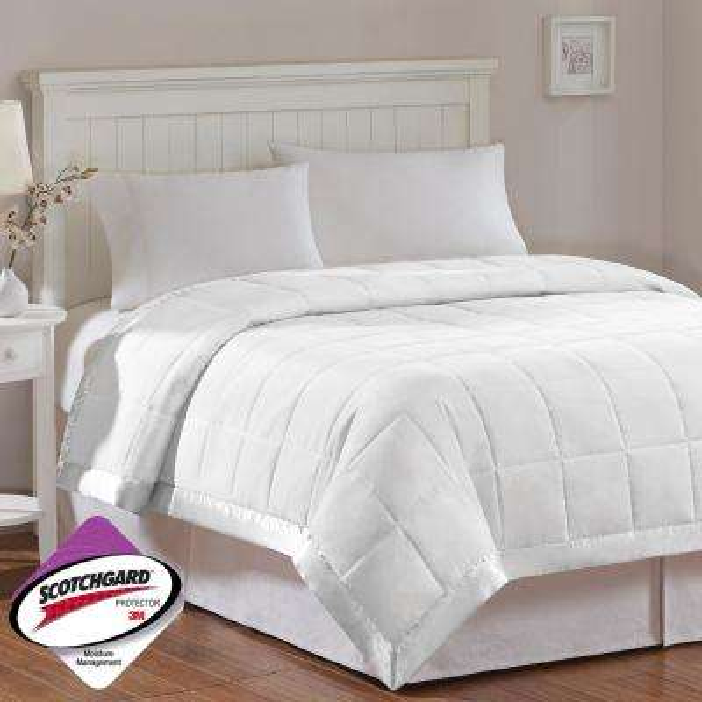 Prospect All Season Hypoallergenic Down Alternative Blanket White with 3M Scotchgard