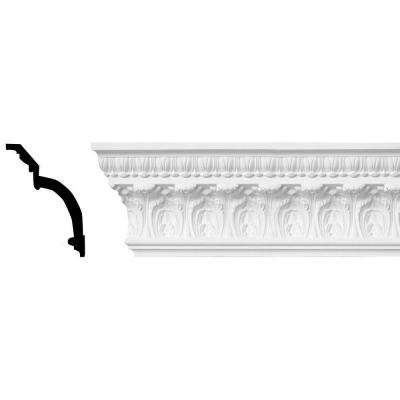 7-7/8 in. x 5-1/2 in. x 96 in. Leaf Polyurethane Crown Moulding