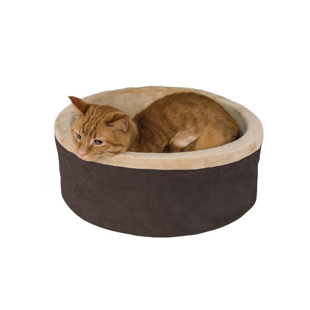 Thermo-Kitty Small Mocha Heated Cat Bed