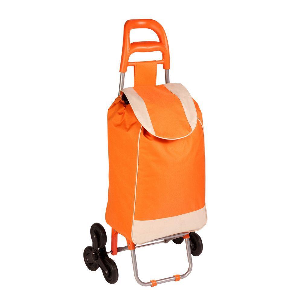 Bag Cart in Orange with Tri-Wheels