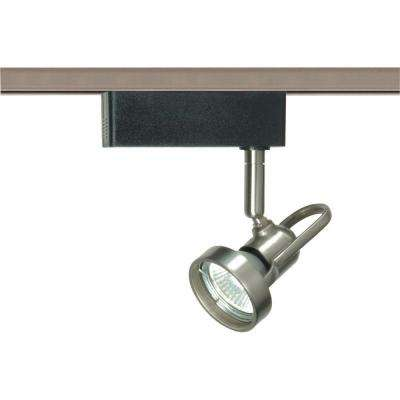 1-Light MR16 12-Volt Brushed Nickel Cast Ring Track Lighting Head